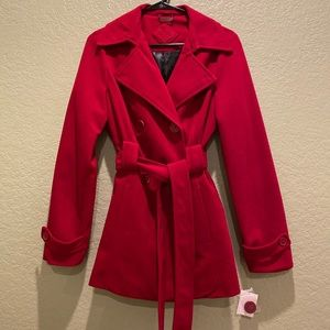 JOUJOU NWT Trench jacket in BERRY! Medium